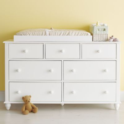 Project nursery crib changing table tilly and fran Nursery chest of drawers with changer